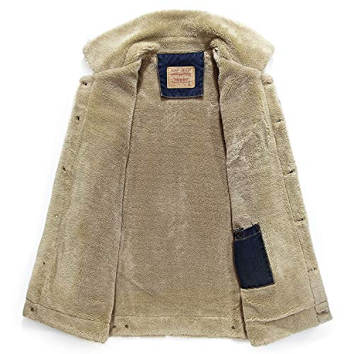Warm Light Lining Vintage Mens Velvet Plus Coat Keep Blue HAINE Western Denim Jeans Winter Breasted Single Jacket Zgqf7wf
