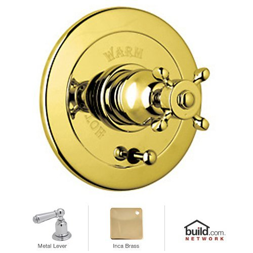 Rohl U.7000L-IB Special Order Only Non-Cancelable and Non-Returnable Kit Perrin and Rowe Edwardian Pressure Balance Trim with Integrated Volume Control in Inca