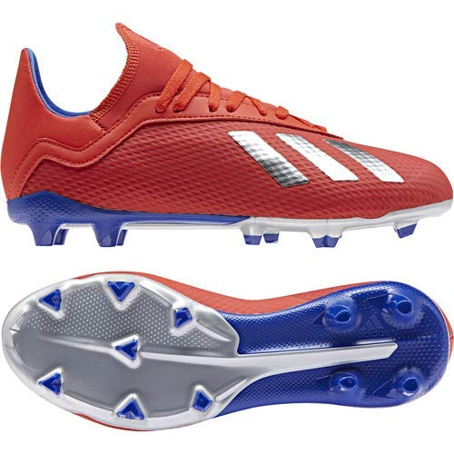 adidas X 18.3 Firm Ground, Active red/Silver Metallic/Bold Blue 13K M US Little Kid by adidas (Image #8)