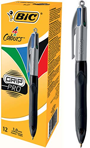 BIC 4 Colours Grip Pro Ball Pens - Box of 12 ()