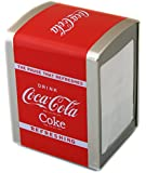 OFFICIAL COCA COLA NAPKIN DISPENSER COKE SERVIETTE STORAGE TIN TISSUE GIFT NEW by Carousel Home