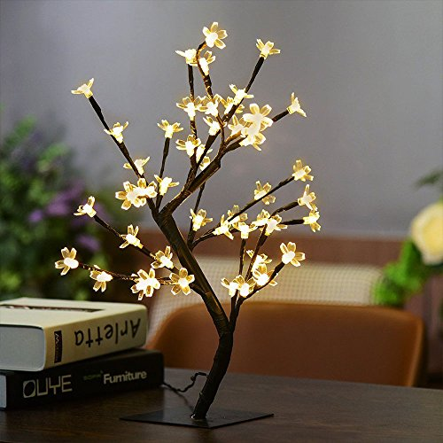 PinPle Lights Tree 2 Pack of Cherry Blossom Desk Top Bonsai Tree Light with Low Voltage for Christmas / Holiday / Home Decor (Battery-powered) (Cherry Lights Tree) by PinPle (Image #5)