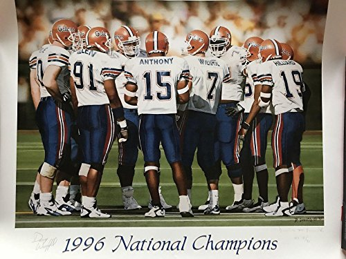 Danny Wuerffel Florida Gators #18 Of 30 Signed Daniel M. Smith Lithograph - Autographed College Art