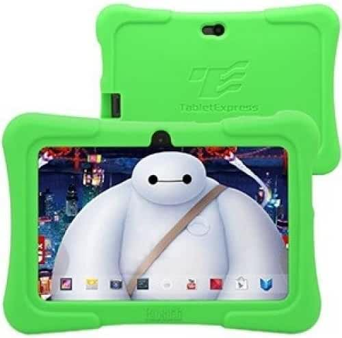 Dragon Touch 7-Inch Quad Core Android Kids Tablet (Wifi and Camera and Games, HD Kids Edition with Zoodles Pre-Installed, Y88X ) Bundle with Green Silicone Case