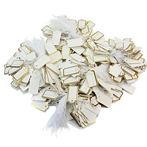 Price Tickets (500 Pcs String Jewelry Retail Display Label Price Tags Tickets Tie 27x14mm New)
