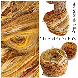 Boutique Yarn Cowl Knitting Kit Gold