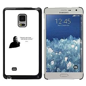 Caucho caso de Shell duro de la cubierta de accesorios de protección BY RAYDREAMMM - Samsung Galaxy Mega 5.8 - No hay cura por ser un coño Bronn