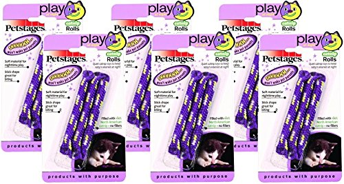 Petstages Nighttime Catnip Rolls Toy for Cats (Pack of -
