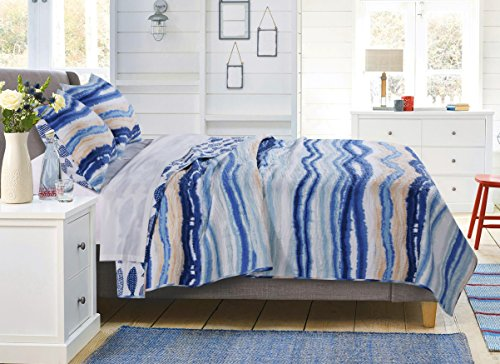 Barefoot Bungalow Crystal Cove Bedding Set, Twin, Blue