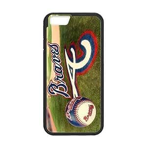 Atlanta Braves Back Design for 4.7 inch Screen iPhone 6 pc hard Case (Laser Technology)-by Allthingsbasketball