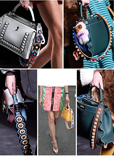Strap Style Purse Handbags 85cm Canvas 15 28cm Guitar Strap Color Replacement Crossbody Multicolor for UUHgrq1zWw