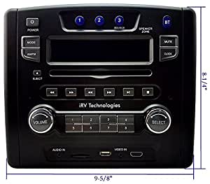 Amazon Com Irv Technology Irv34 Am Fm Cd Dvd Mp3 Mp4 Usb