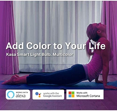 Kasa Smart KL130 Light Bulb, LED Multicolor Smart Wi-Fi Alexa Bulbs Works with Alexa and Google Home, A19, 2.4Ghz, No Hub Required, 850LM RGB Color Changing (2500K-9000K), 10.5W