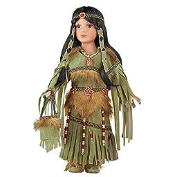 Women\'s Cheyenne Native American Porcelain Doll, Multi, Polyester