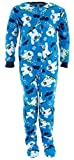 Komar Kids Little Boys' Blue Yeti Footed Pajamas XS/4-5