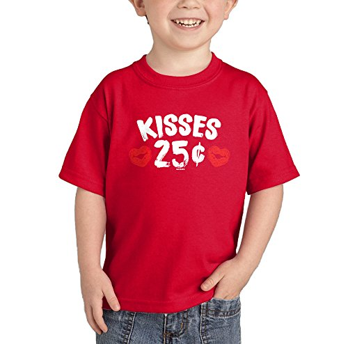 Kisses 25 Cents T-shirt (Red, 3T)