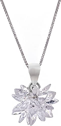 """18/"""" Inches // 45cm Genuine 925 Sterling Silver Snowflake Pendant Necklace"""