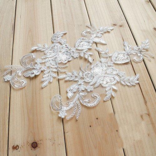 ivory alencon lace wedding dress - 8