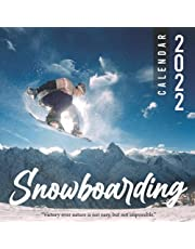 Snowboarding Calendar 2022: Calendar 2022 with 6 Months of 2021 Bonus