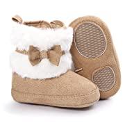 Baby Boots, Womail Winter Warm Infant Newborn Snow Boots Crib Shoes Prewalker Boy Girl (11 cm for 0~6 months, Khaki)