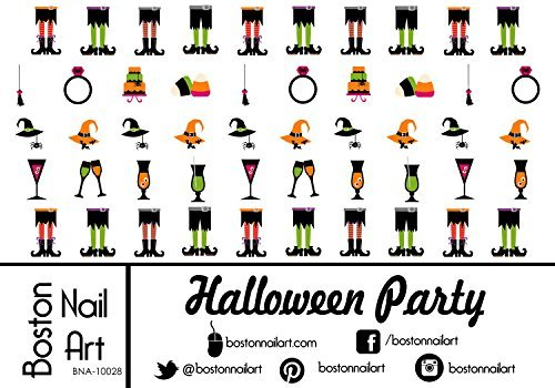 Halloween Party Waterslide Nail Decals - 50pc by Boston Nail Art -