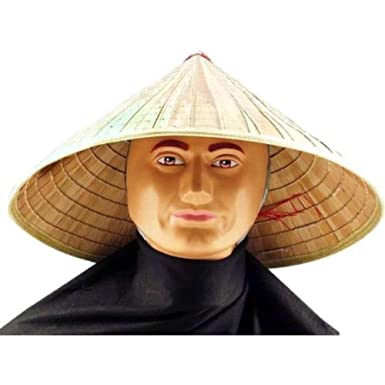 ca4a1fb72c8 Amazon.com  Bamboo Coolie Chinese Conical Hat Asian Japanese Straw Sun Rice  Farmer Costume- Sold by Jsa Sales!  Clothing