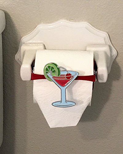"Martini TP Toppers Set makes your bathroom décor fun by adding a whimsical ""topper"" to your toilet paper roll. TP Toppers is a perfect bathroom decoration. Lots of interchangeable themes. (Set Bed Martini)"