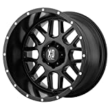 XD Series by KMC Wheels XD820 Grenade Satin Black Wheel (17x8.5''/6x139.7mm, 00mm offset)