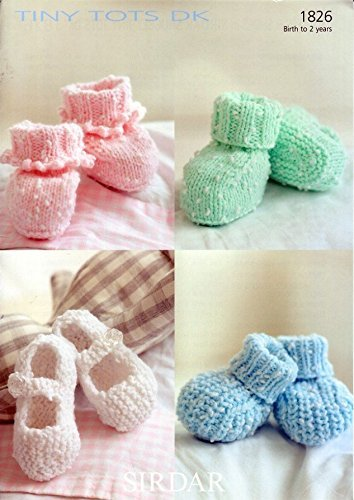 Sirdar Snuggly Tiny Tots DK Baby Knitting Pattern 1826 by Sirdar by Sirdar