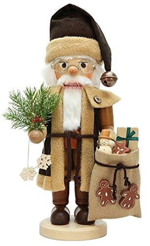 German Christmas Nutcracker Santa Claus natural - 40,0cm / 15.7inch - Christian Ulbricht by Authentic German Erzgebirge Handcraft