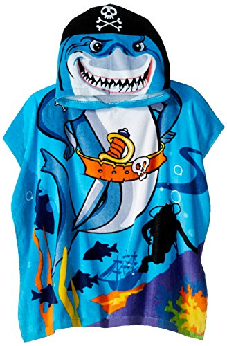 Northpoint Pirate Shark Kids Hooded Beach Towel, 24 x 48 Inch]()