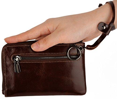 YALUXE Capacity Compact Wristlet Leather