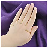 Mytys Fashion Jewelry Crystal Palm Bracelet Hand Cuff Adjustable Handlet Finger Rings