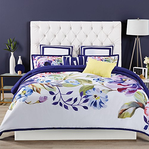 Garden Duvet Set - Christian Siriano Cover and Shams Duvet Set, King, Garden Bloom