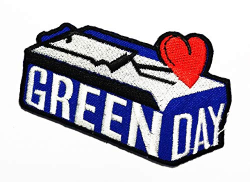 American Rock Band Coffin Red Heart Punk Rock Pop Punk Alternative Rock American Idiot Hand Blasting Heart red Music Band Logo Patch Applique for Clothes Great as Happy Birthday - Coffin Band Rock