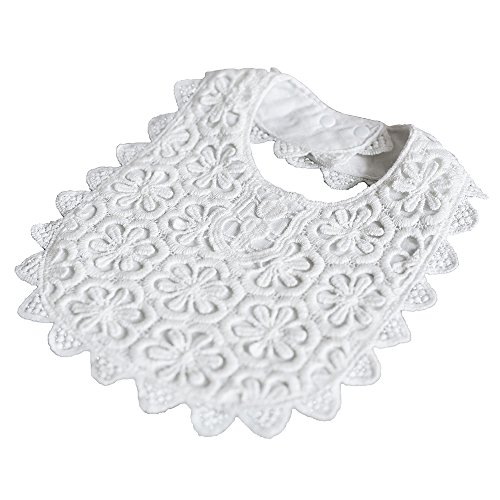 - The MoneyPenny Cream Lace Dribble Bib Baby Bibs for Girls Lace Baby Bib,100% cotton (Cream)