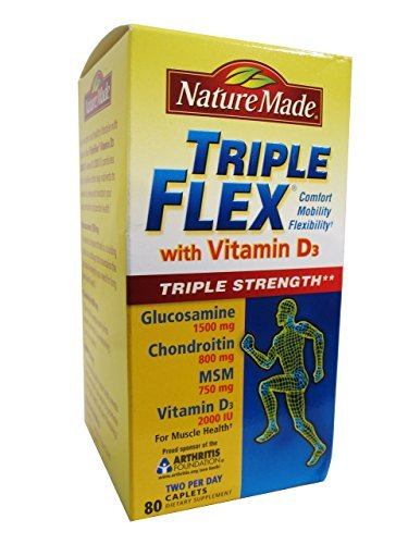 Nature Made TripleFlex Triple Strength with Vitamin D3 80 Caplets