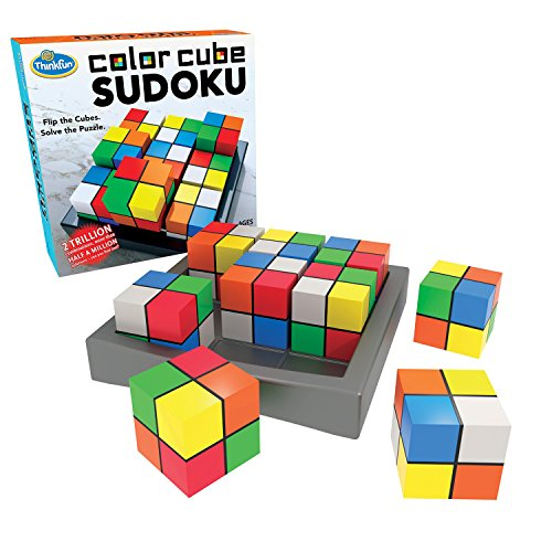 (ThinkFun Color Cube Sudoku - Fun, Award Winning Version of Sudoku Using Colors Instead of Numbers For Age 8 and Up)