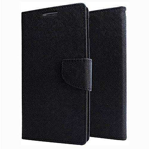 finaux magnetic lock diary wallet style Flip Cover Case forxiaomi redmi note 3   black