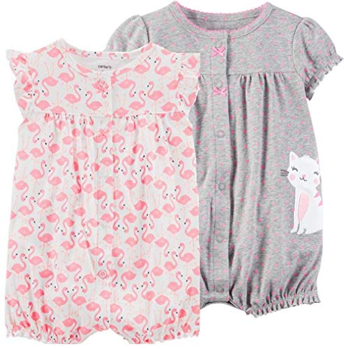 - Carter's Baby Girls' 2-Pack Romper (Dot/Multi, 3 Months)