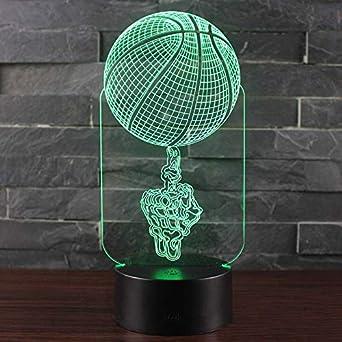 Finger top ball theme Lámpara 3D LED luz nocturna 7 Cambio ...