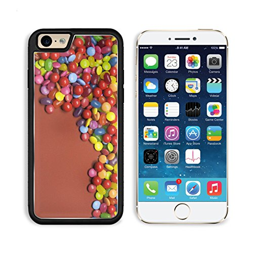 Apple iPhone 6 6S Aluminum Case Bright colorful background abstract of multi colored candy lollies and sweets for IMAGE 20942110 by MSD Customized Premium Deluxe Pu Leather generation Accessories HD W