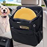 SunGrow Pet Travel Organizer Bag Spacious Bag That Secures Pet Travel Essentials – Fits with All Cars – No More Mess in Car – Space Saver Waterproof Dog and Cat Bag – Easy to Clean For Sale