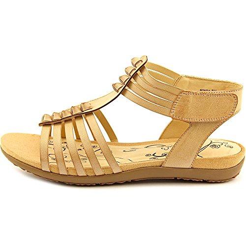 Sandals Toe Open Tan Womens BareTraps Bare Traps Ronda Casual Gladiator aIRx8Xq