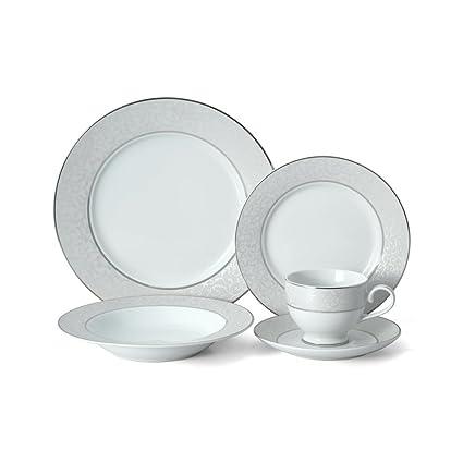 Mikasa Parchment 20 Piece Dinnerware Set  sc 1 st  Amazon.com & Amazon.com | Mikasa Parchment 20 Piece Dinnerware Set: Mikasa ...