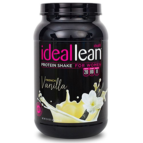 IdealLean, Protein Powder for Women, French Vanilla, 20g Whey Protein Isolate, Calcium, Folic Acid, 0g Sugar, 0g Fat, 0 Carbs, 30 Servings