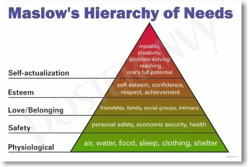 Maslows Hierarchy of Needs - NEW Classroom Science Poster by PosterEnvy