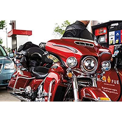 Kuryakyn 6901 Motorcycle Accessory: Front Fairing Vent Accent for 2014-19 Harley-Davidson Touring & Trike Motorcycles, Chrome: Automotive