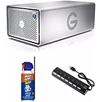 G-Technology G-RAID 2 Bay with Thunderbolt 3 and USB-C 20TB Hard Drive (0G05763) Bundle
