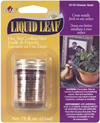 Plaid 6110 :Craft Liquid One Step Leafing Paint, 0.75-Ounce, Classic Gold, 1 Pack